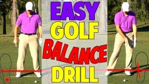 Golf Balance Drill