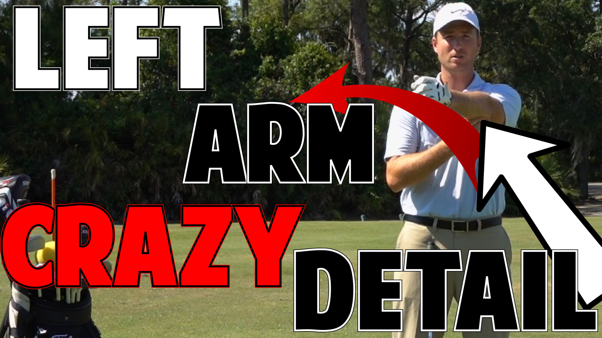 Perfect Golf Impact | The Left Arm in Crazy Detail • Top
