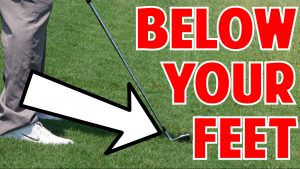How to Hit a Ball Below Your Feet