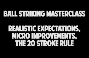 Realistic Expectations, Micro Improvements, 20 Stroke Rule