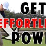 golf lesson for effortless power
