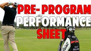 pre-program performance sheet